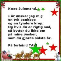 Sjov ønskeseddel til julemand